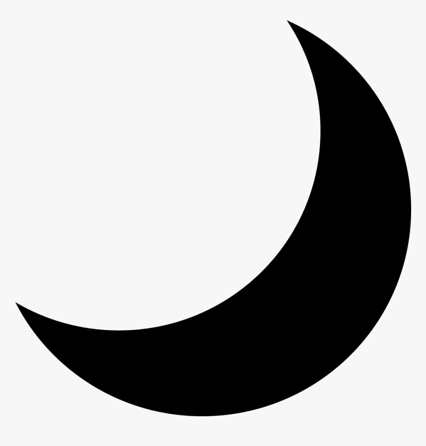 Emojione Bw 1f319 - Black Moon Symbol Copy And Paste, HD Png Download, Free Download