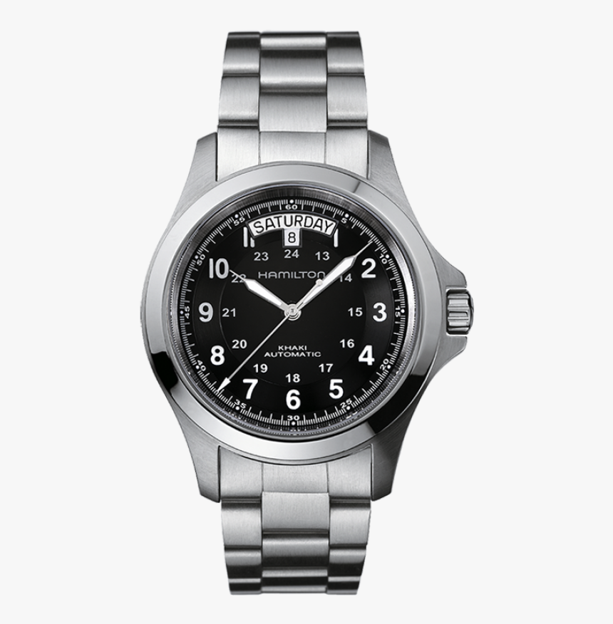 King Auto The King Auto Comes In A Stainless Steel - Hamilton Khaki, HD Png Download, Free Download