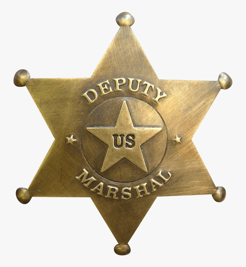 Six-point Deputy Us Marshal Badge - Texas Rangers Police Logo, HD Png Download, Free Download