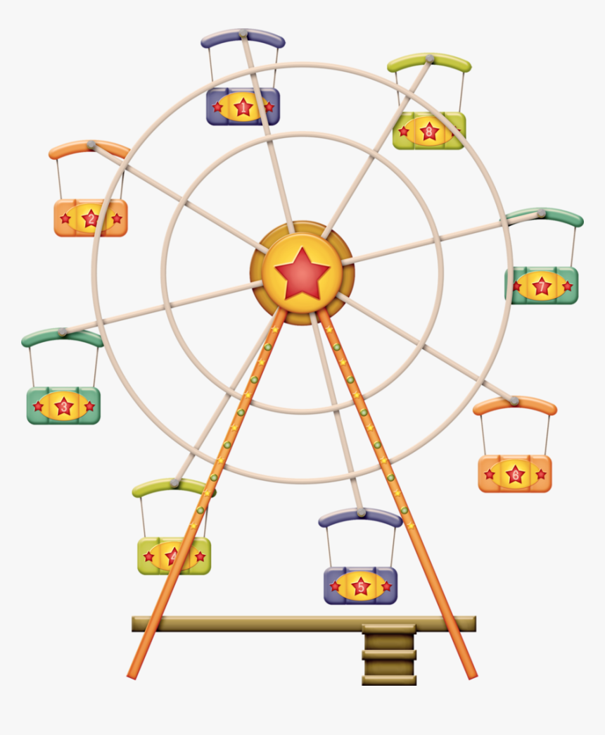 Zgl Threeringcircus Ferriswheel Png - Illustration, Transparent Png, Free Download