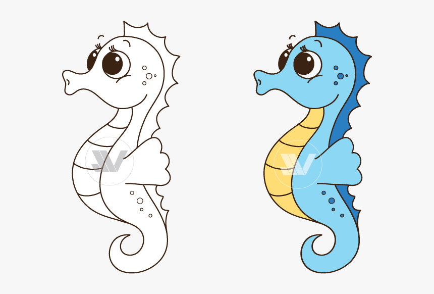 Collection Of Transparent - Clip Art Sea Horse, HD Png Download, Free Download