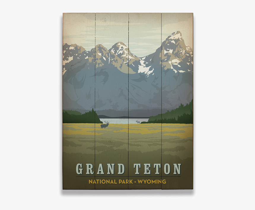 Grand Teton National Park Vintage Poster, HD Png Download, Free Download