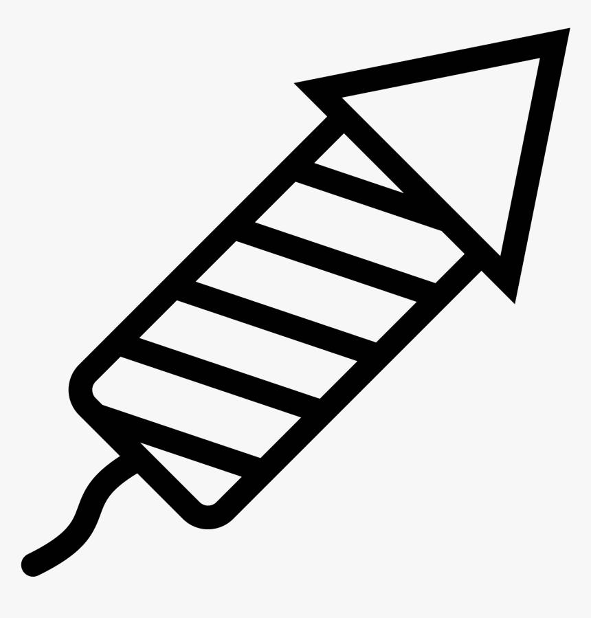 Png 50 Px - Rocket Diwali Black & White, Transparent Png, Free Download