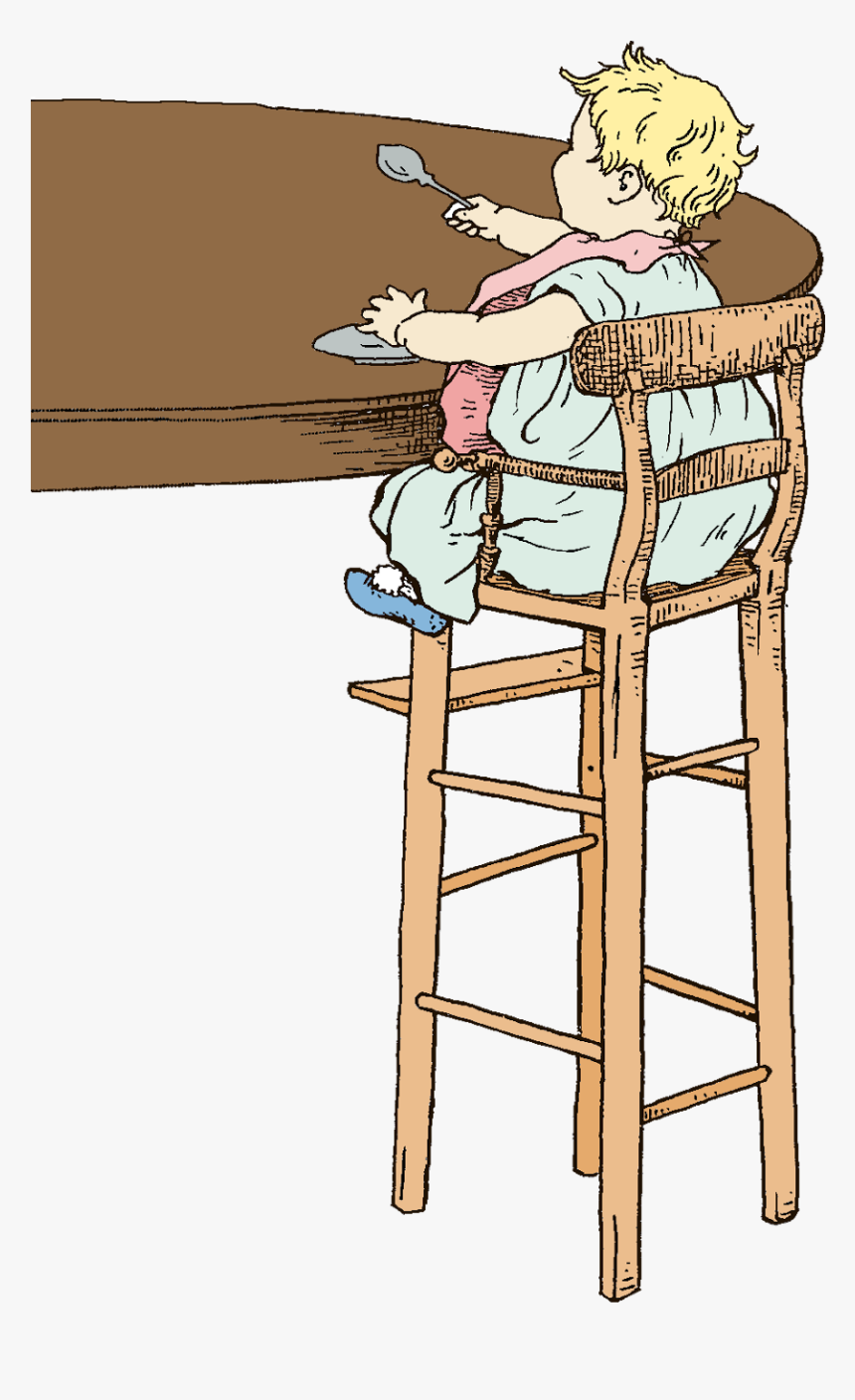Chair Clipart Baby Chair - High Chair, HD Png Download, Free Download