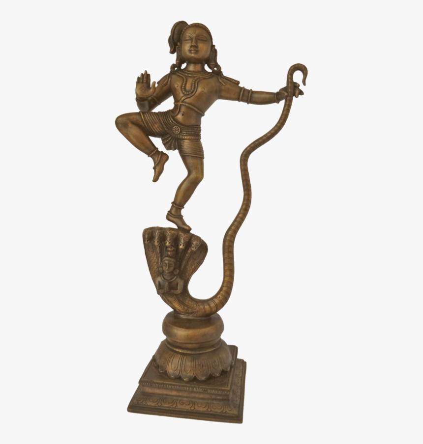 Panchaloha Krishna Dancing On The Head Of Kaliya Statue, - Bronze Sculpture, HD Png Download, Free Download