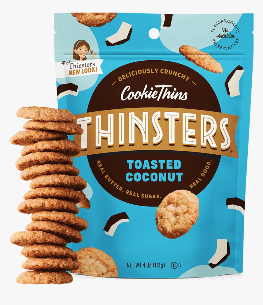 Thinsters Coconut Cookies, HD Png Download, Free Download