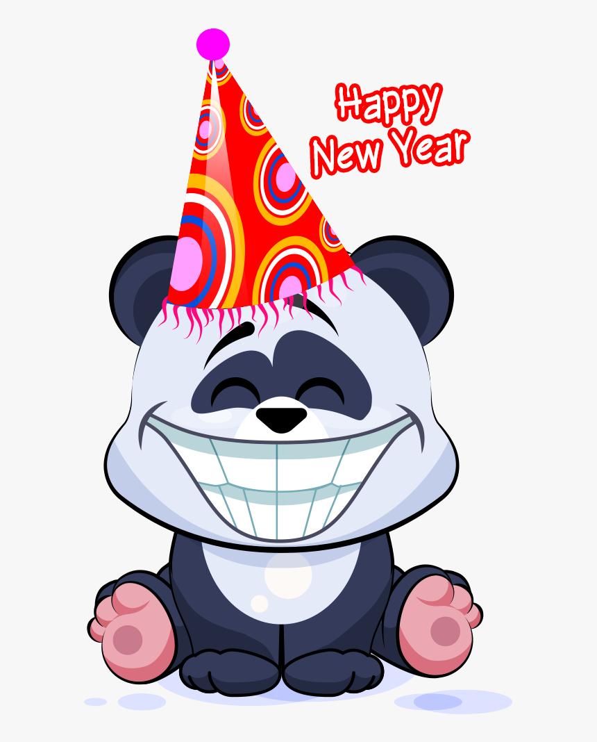 Happy New Year - Stickers De Panda Para Whatsapp, HD Png Download, Free Download