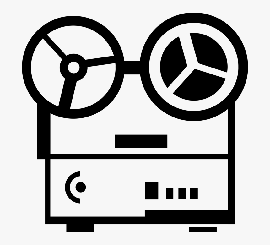 Tape Vector Recorder - Reel To Reel Tape Clipart, HD Png Download, Free Download