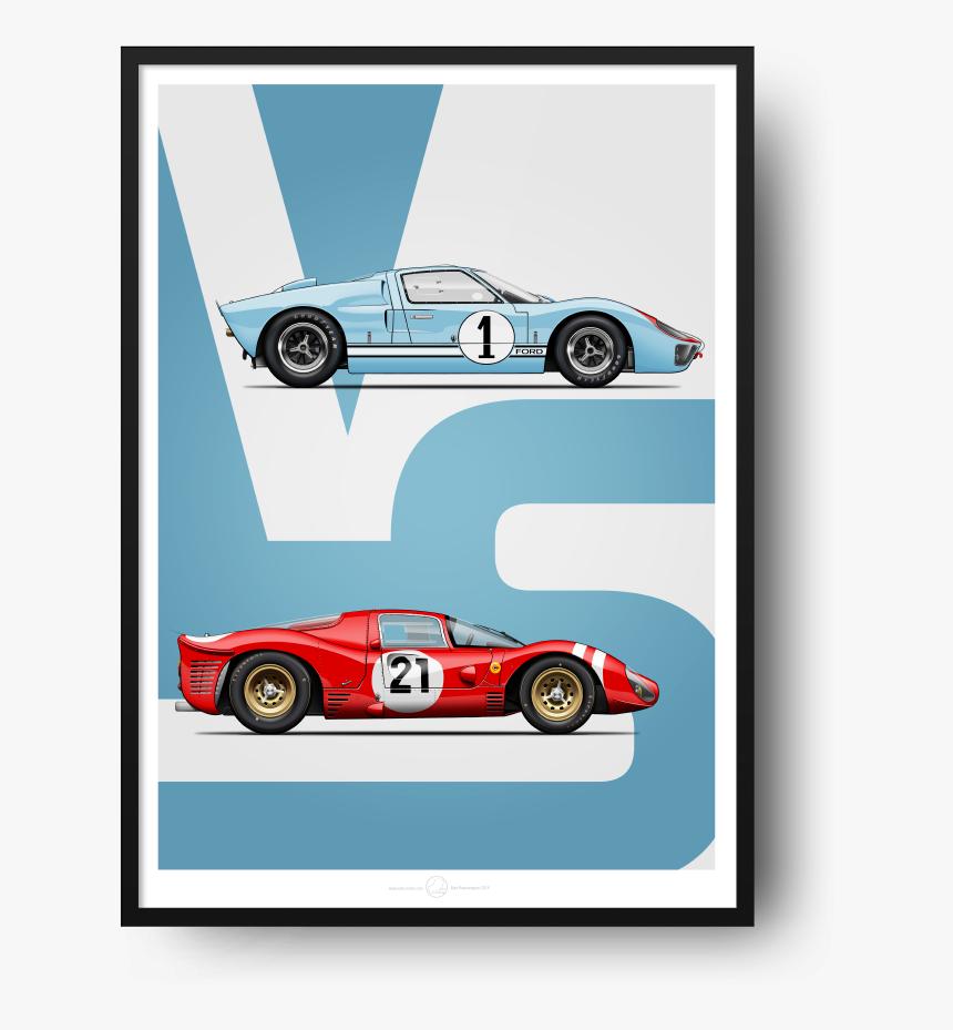 Ford Vs Ferrari 5070 13 Ford Vs Ferrari Poster Hd Png Download Kindpng