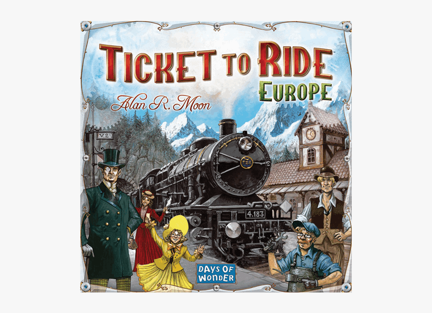 Ticket To Ride New Board Game Europe, HD Png Download, Free Download