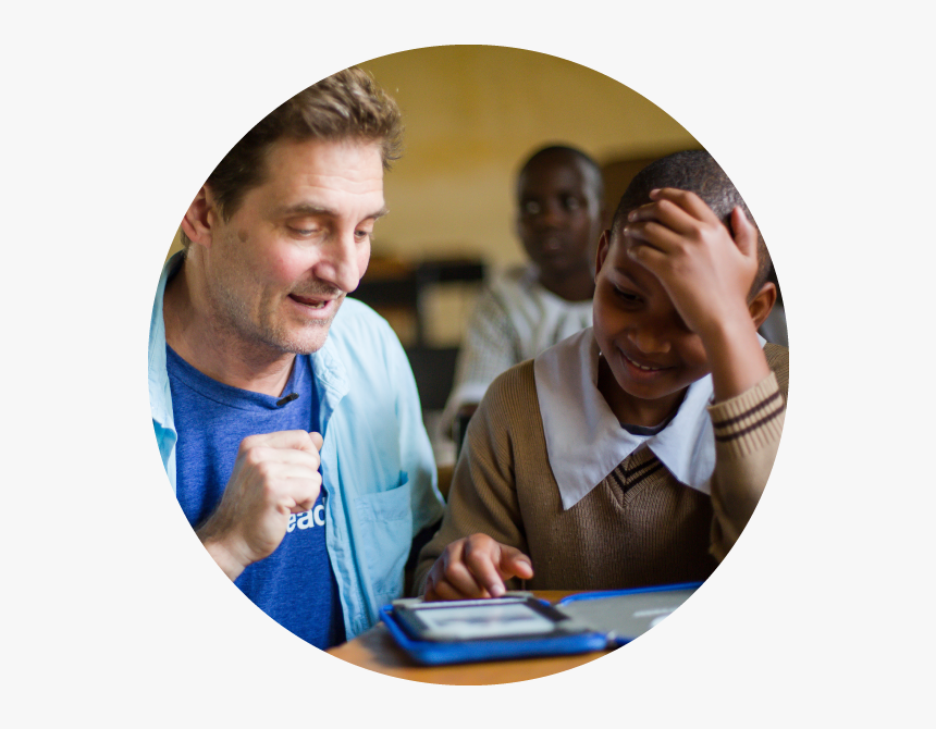 Tad Hills Reading With A Girl In Ghana - Conversation, HD Png Download, Free Download