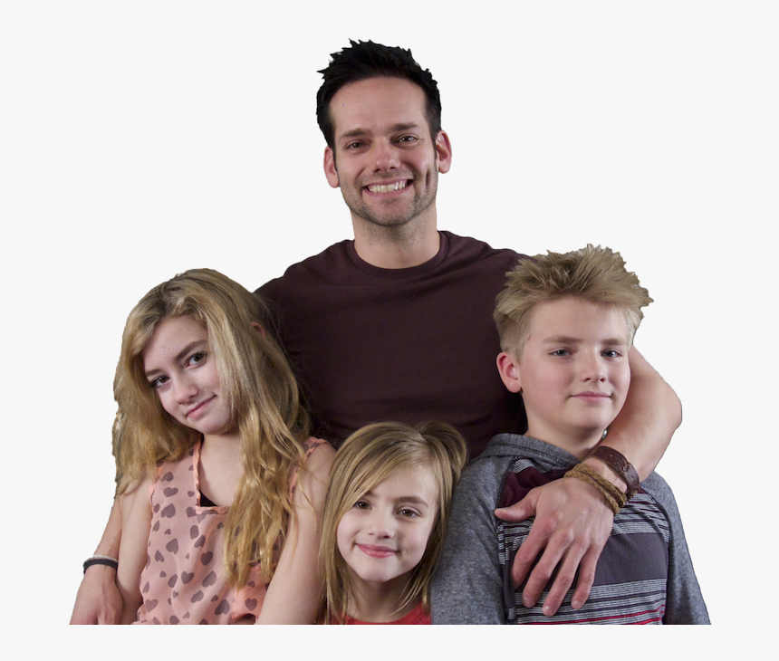 Dad And Kids Png Background Image - Single Dads Family, Transparent Png, Free Download