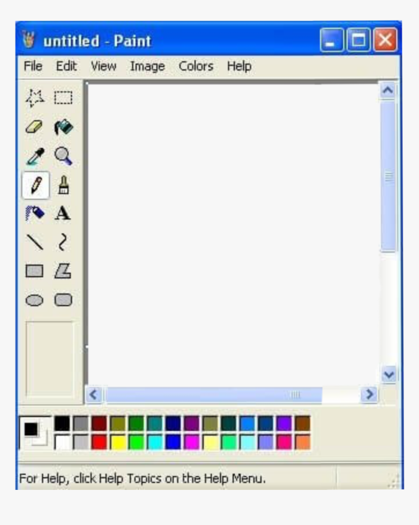 #paint #aesthetic #aesthetics #border #overlay - Line Tool In Paint, HD Png Download, Free Download