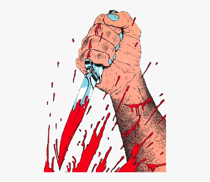 Here's Some Transparent Art To Stab Your Blog To Death - Horror Bloods Knife Comics, HD Png Download, Free Download