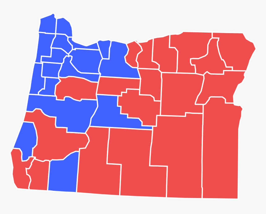 Oregon Governor Election Results By County, HD Png Download, Free Download
