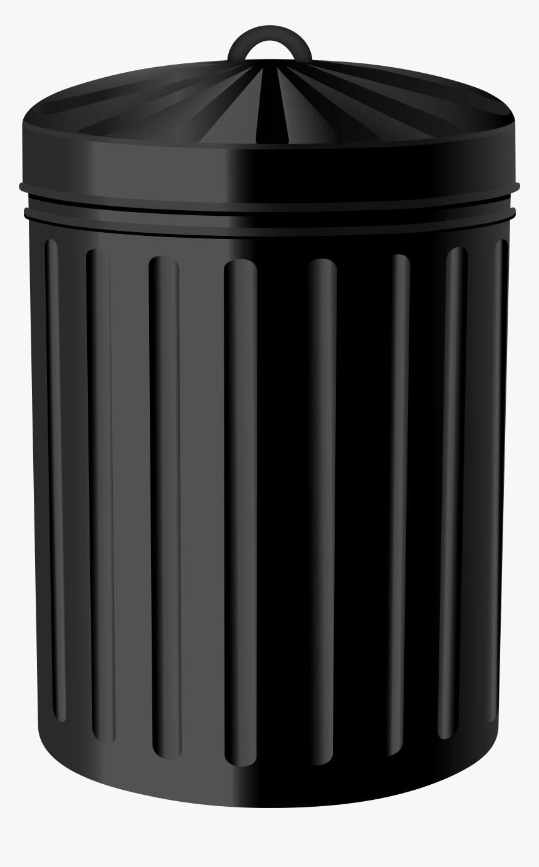Black Steel Trash Can Png Clipart - Plastic, Transparent Png, Free Download