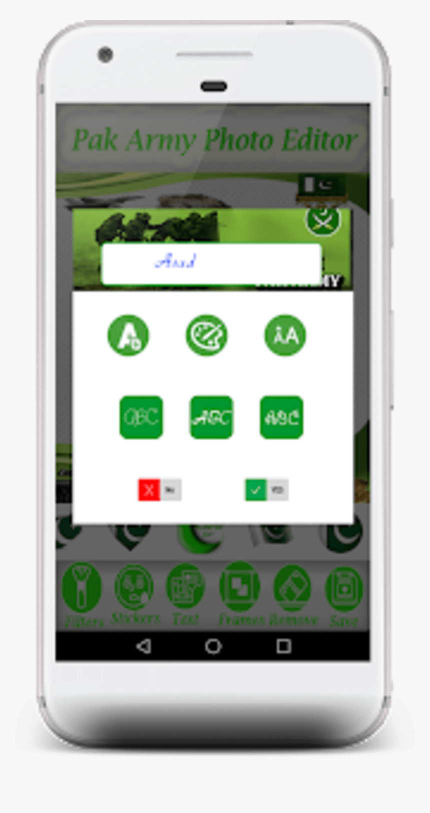 Pak Army Photo Frame - Mobile Phone, HD Png Download, Free Download