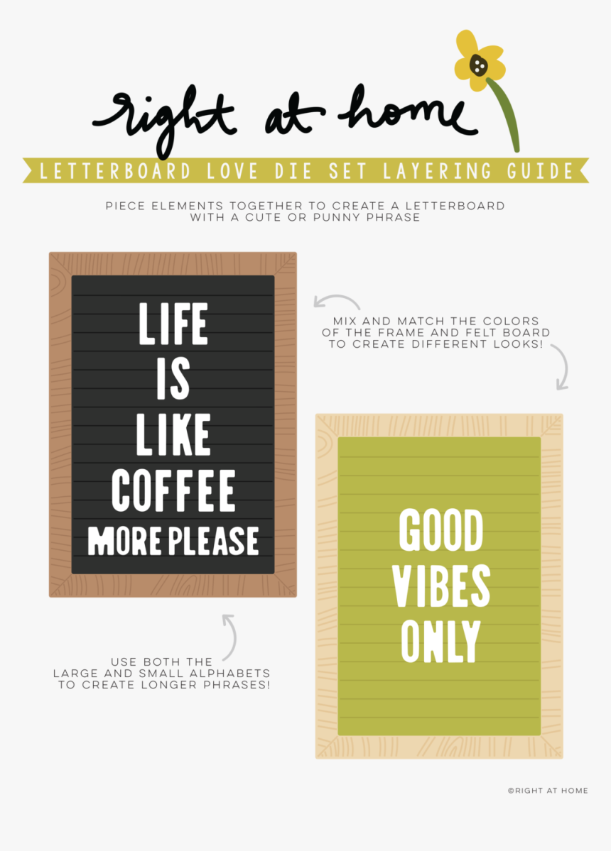 Letterboard Love Die Set Layering Guide Png, Transparent Png, Free Download