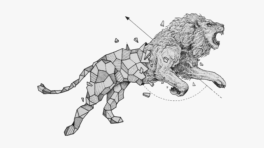 #lion #anime #geometry #draw #drawing #abstractart ...