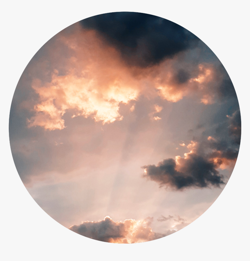 clouds circle sunset pink background aesthetic aesthetic clouds and sun hd png download kindpng clouds circle sunset pink