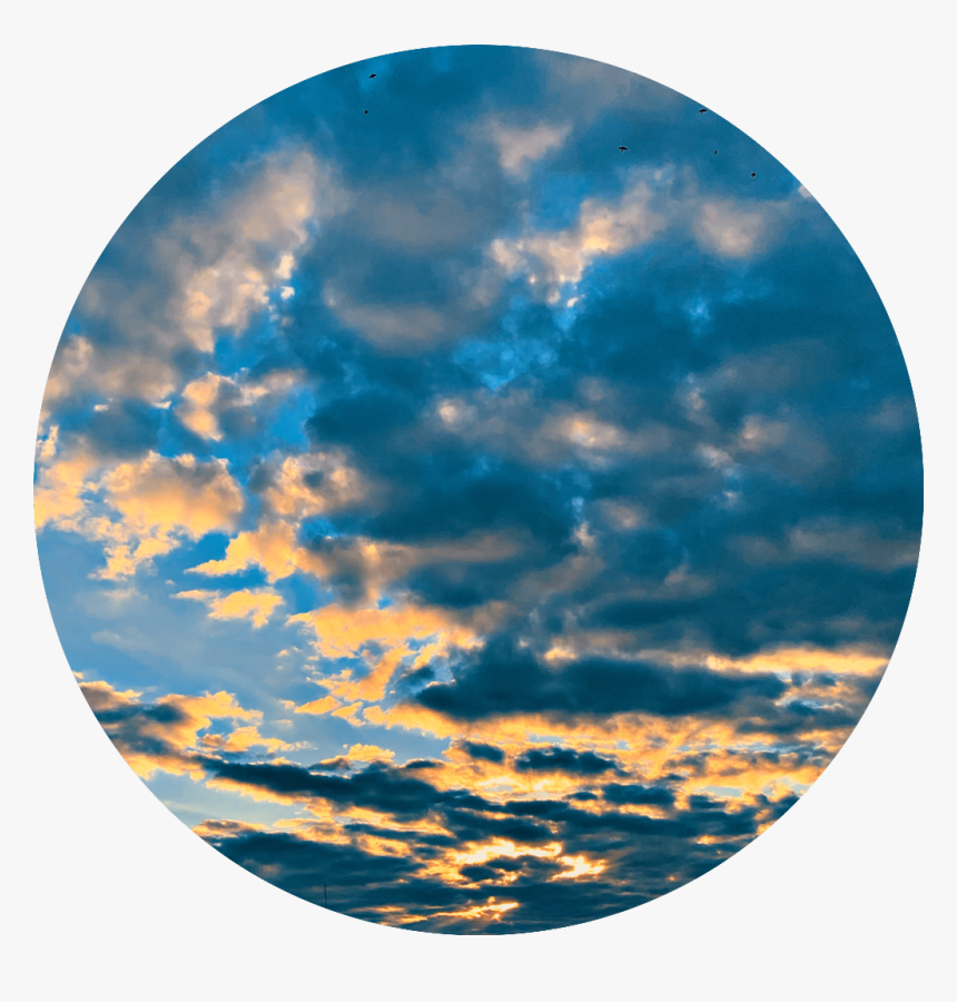 blue cloud clouds circle background sunset nature sky hd png download kindpng blue cloud clouds circle background