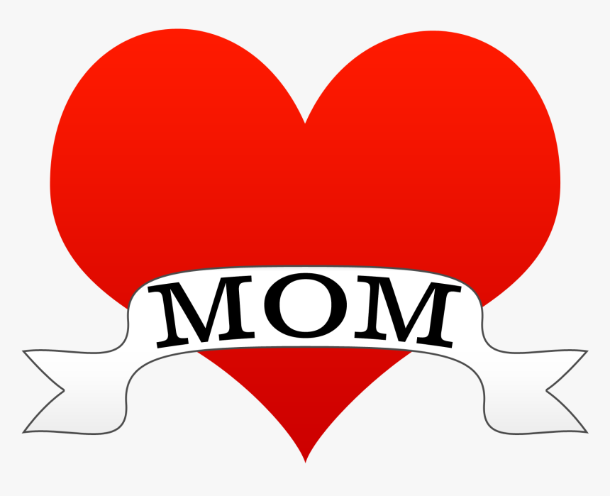 I Love You Mother Png - Clipart Mothers Day Heart, Transparent Png, Free Download