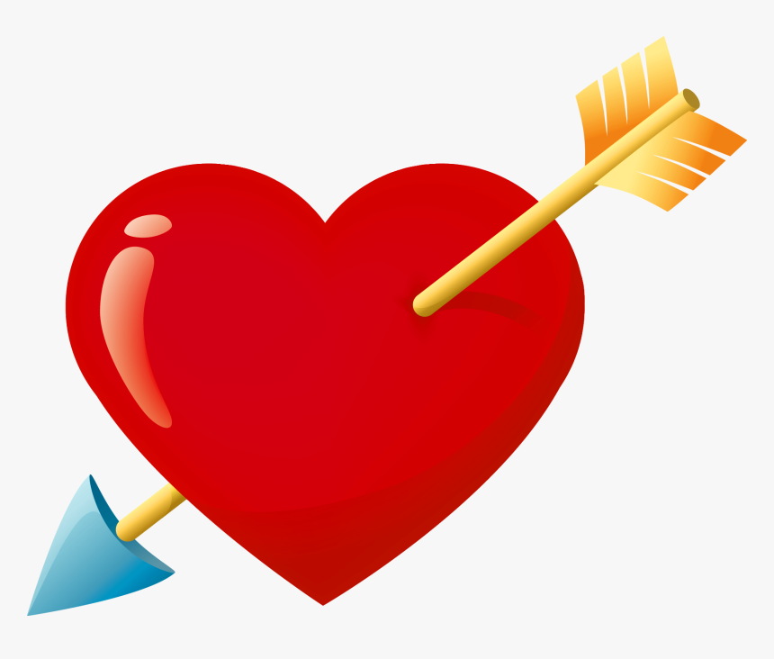 Love Png - Valentines Heart With Arrow, Transparent Png, Free Download