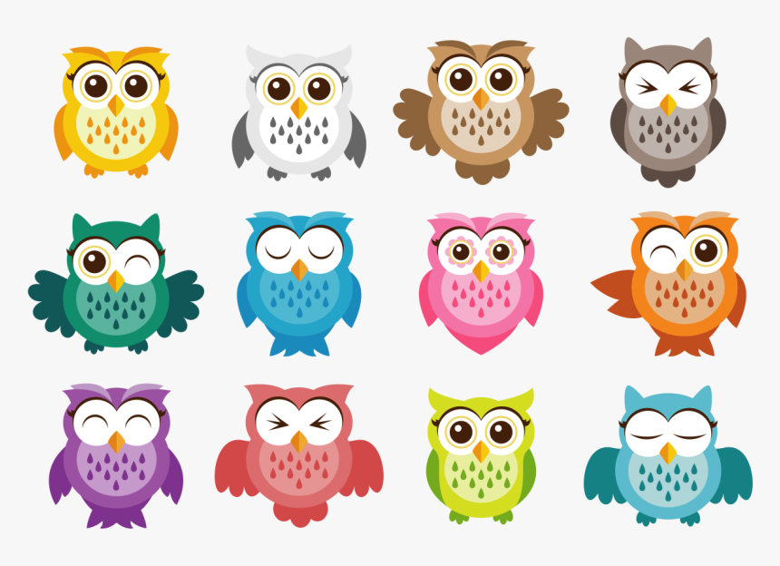 Track Clipart Owl - Owl Vector, HD Png Download, Free Download