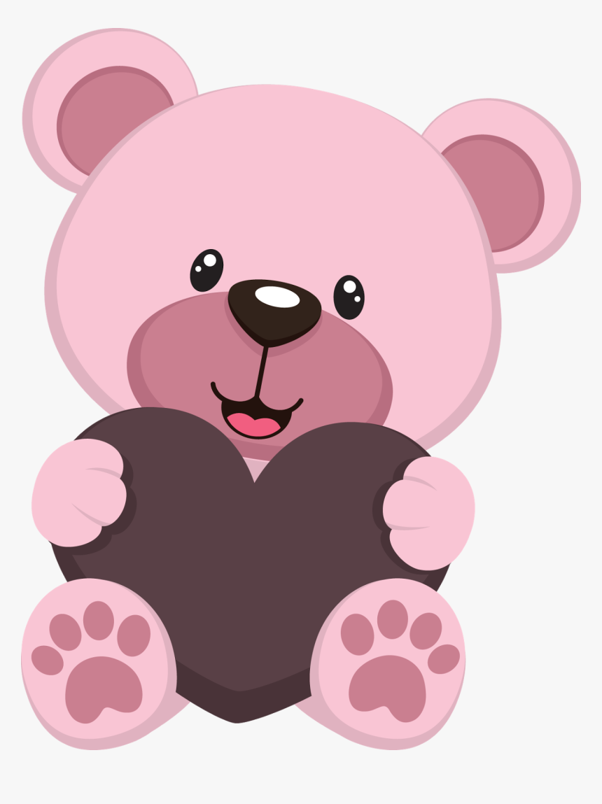 Cute Teddy Bears - Pink Teddy Bear Clipart, HD Png Download, Free Download