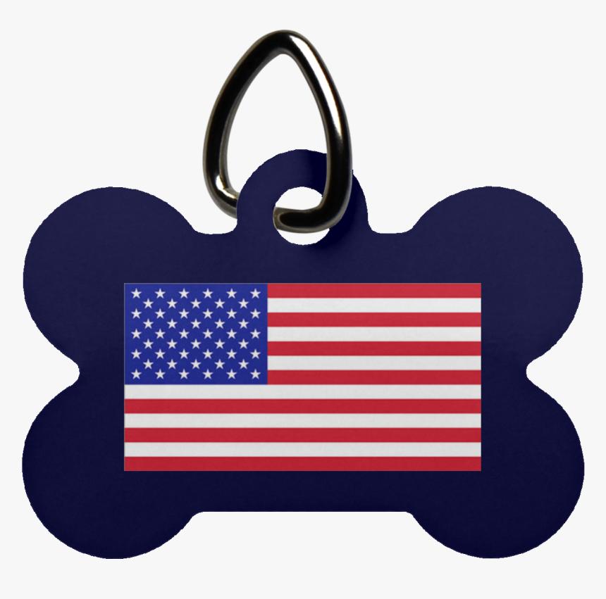 American Flag Dog Bone Pet Tag - Stock Exchange, HD Png Download, Free Download
