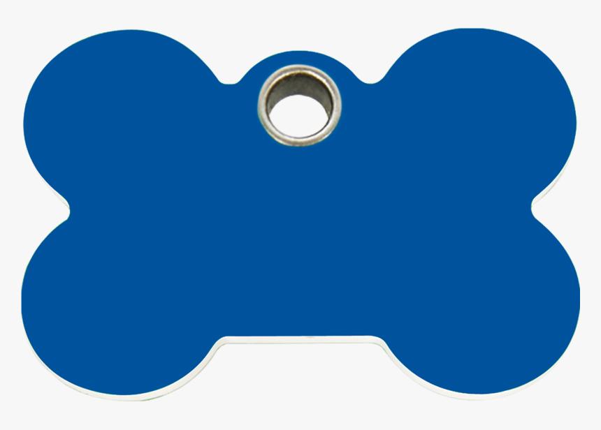 Dark Blue Bone Plastic Pet Tag - Blue Bone Dog Tag, HD Png Download, Free Download