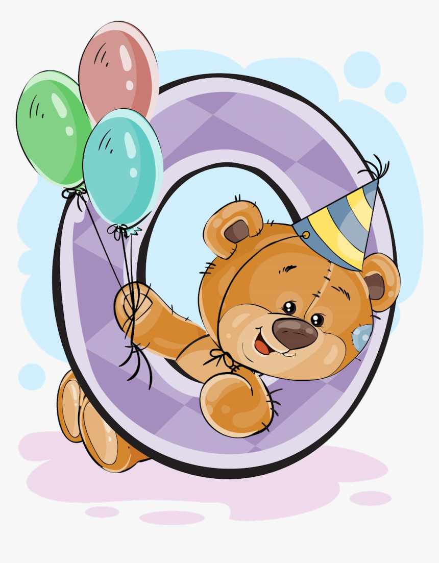 Números Con Osito Cumpleañero - Numbers With Bear, HD Png Download, Free Download