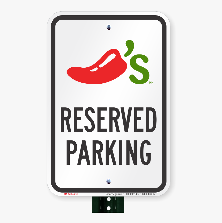 Reserved Parking Sign, Chilis Grill And Bar Clipart - Parking Sign, HD Png Download, Free Download