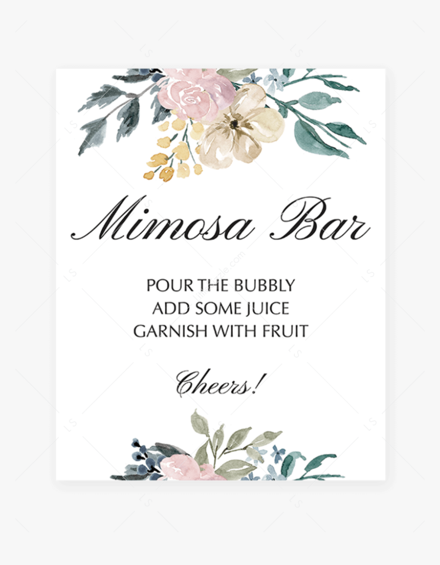 This is a picture of Mimosa Bar Sign Printable Free for vintage