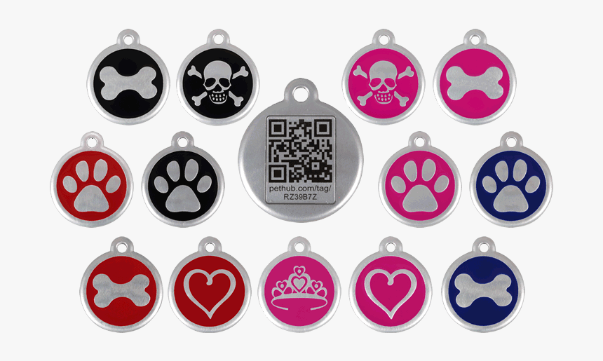 Qr Pet Id Tags Or Personalized Pet Id Tags - Red Dingo Dog Tags, HD Png Download, Free Download