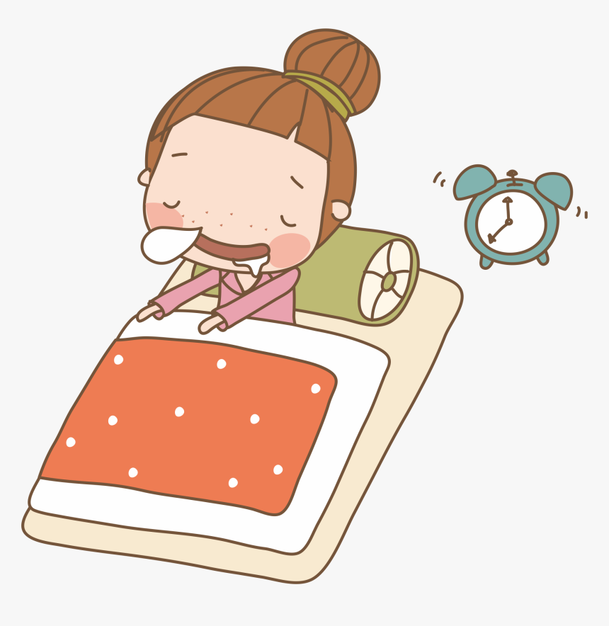 Girl Drawing Transprent Png - Anime Girl Sleeping Drawing, Transparent Png, Free Download