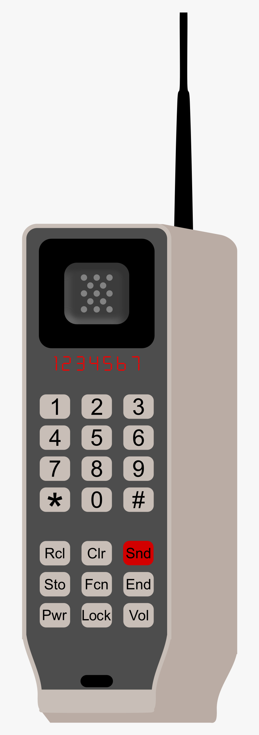Brick Phone Clip Arts - First Mobile Phone Clipart, HD Png Download, Free Download