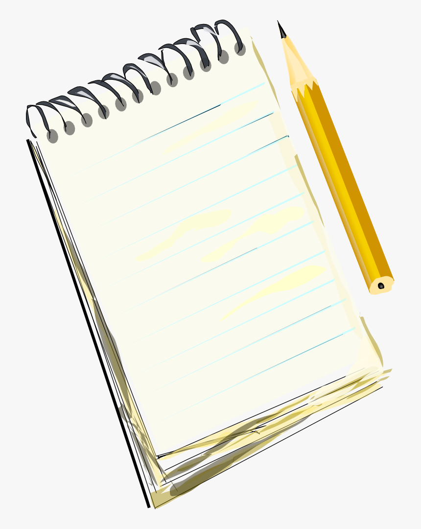 Notebook And Pencil Transparent Png - Drawing Of Notebook And Pencil, Png Download, Free Download