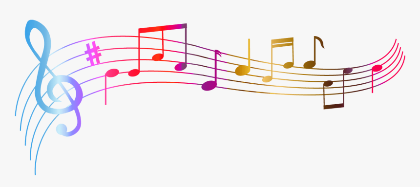 Notas Musicales De Color - Colorful Music Notes Clipart, HD Png Download, Free Download