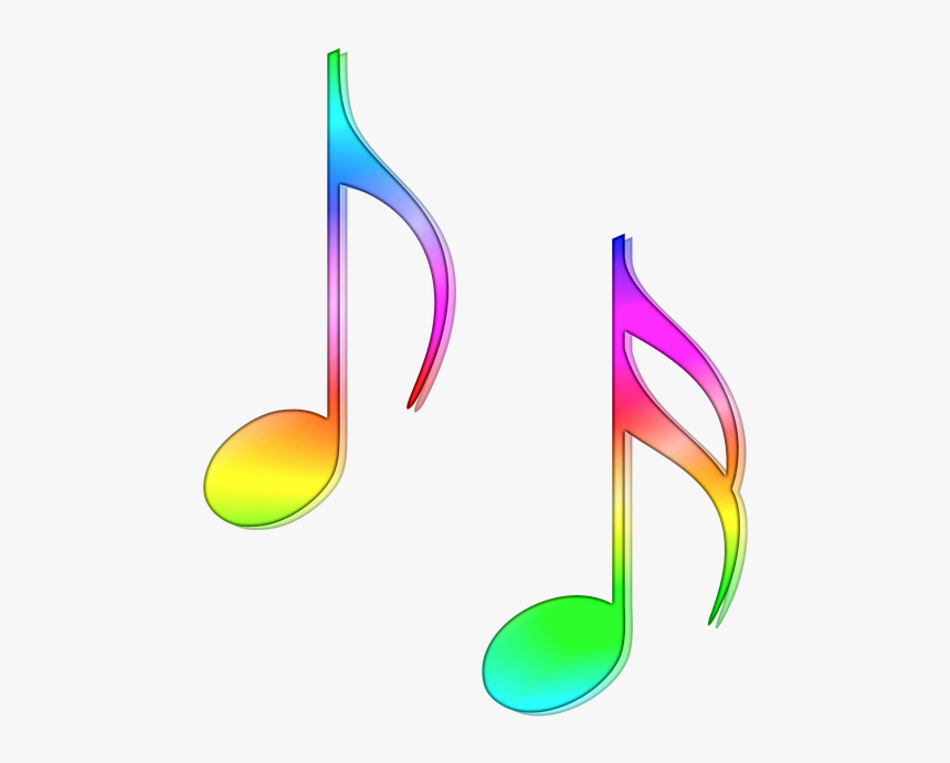 Nota, Partituras, Ocho, Semicorchea, Música, Color - Colorful Music Note Clipart, HD Png Download, Free Download