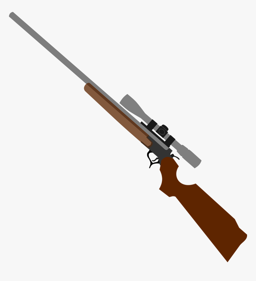 Weapon, Rifle, Gun, Telescopic Sight - Hunting Rifle Clipart, HD Png Download, Free Download