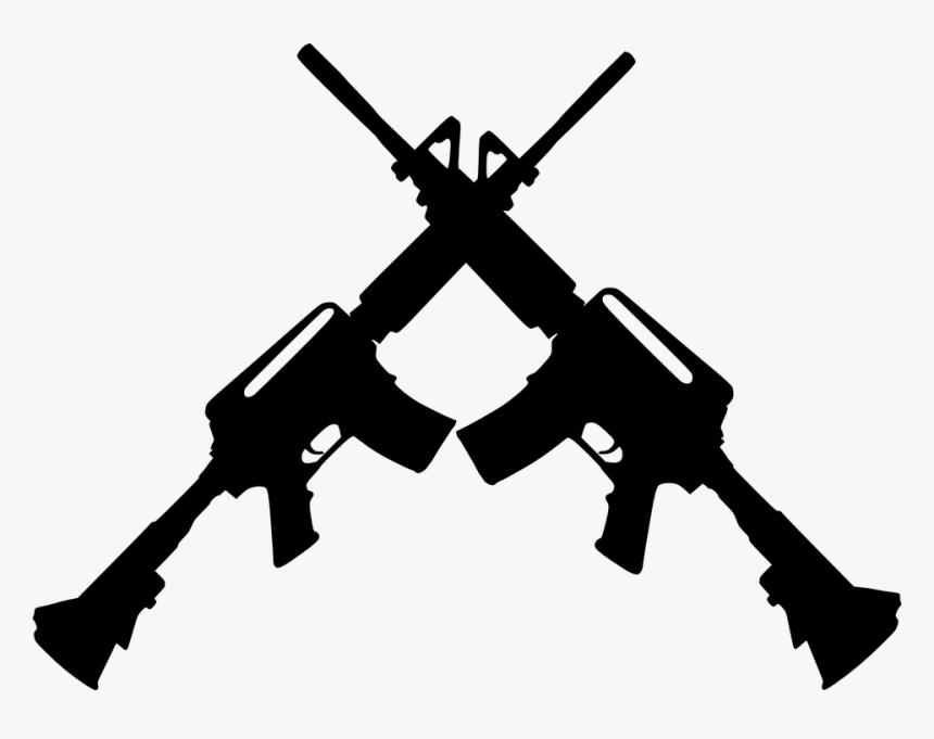 Guns Crossed Clipart, HD Png Download, Free Download