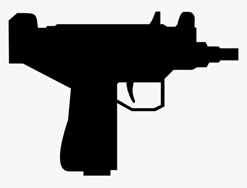 Pistol, Gun, Mini, Silhouette, Trigger, Shotgun, Shoot - Gun Silhouette, HD Png Download, Free Download