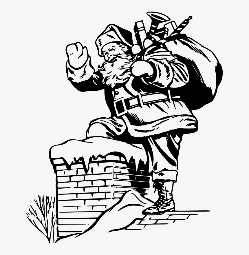 Christmas Drawing In Santa Claus Hd Png Download Kindpng