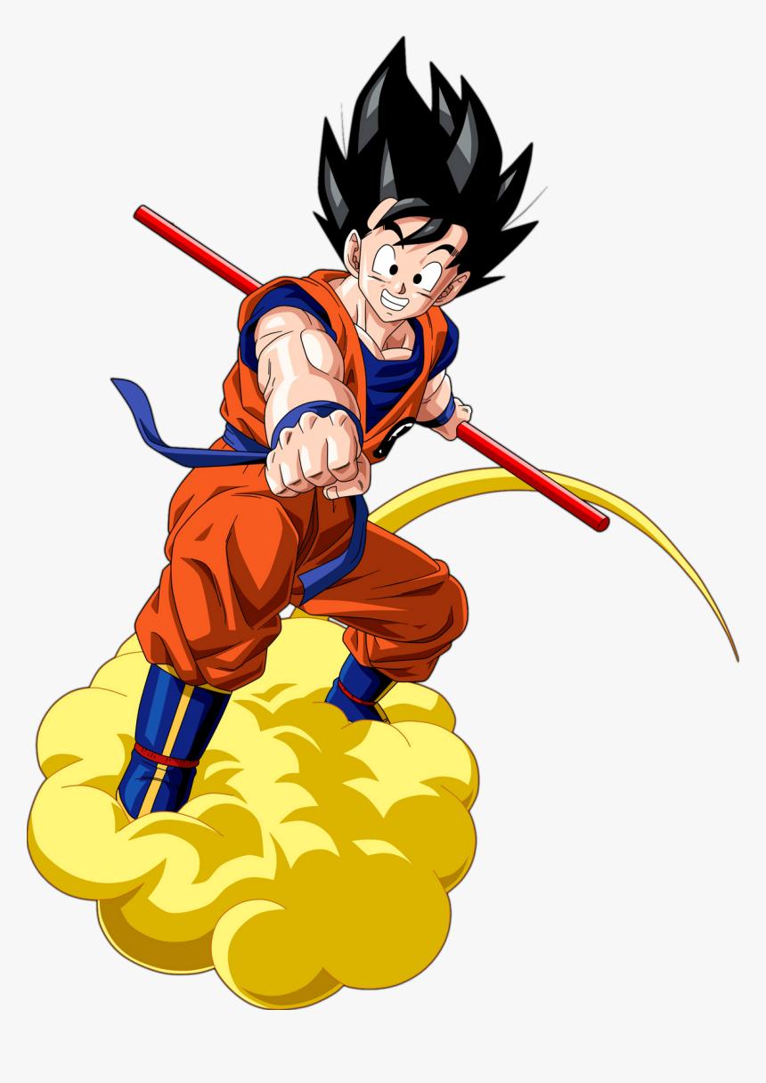 Goku On Cloud - Dragon Ball Z Png, Transparent Png, Free Download