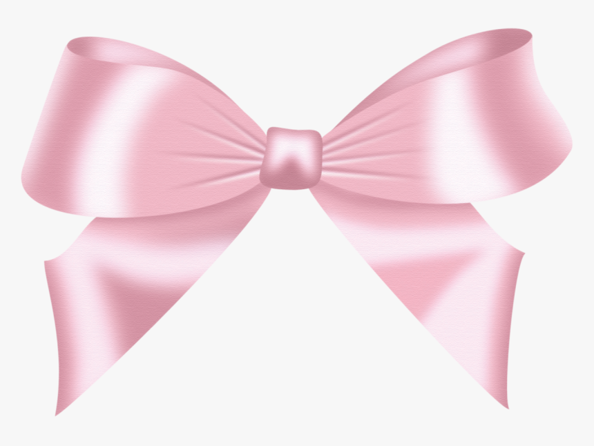 Bow Tie Ribbon Paper Clip Clip Art - Light Pink Bow Transparent, HD Png Download, Free Download