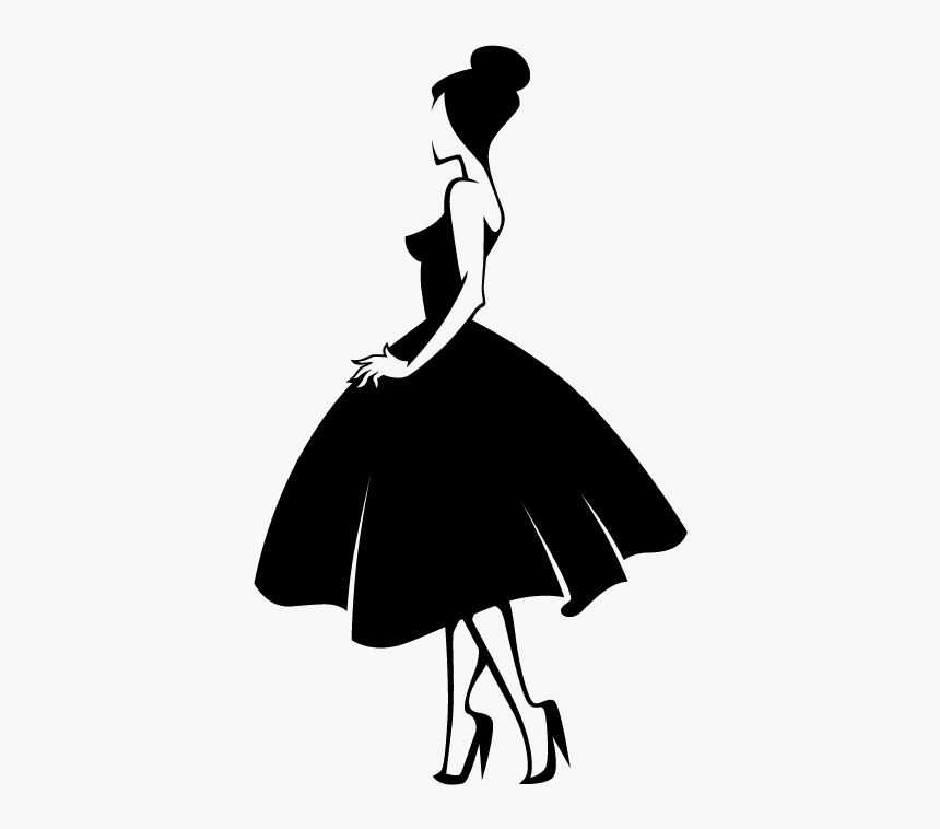 Fashion Silhouette Model - Fashion Model Silhouette Png, Transparent Png, Free Download