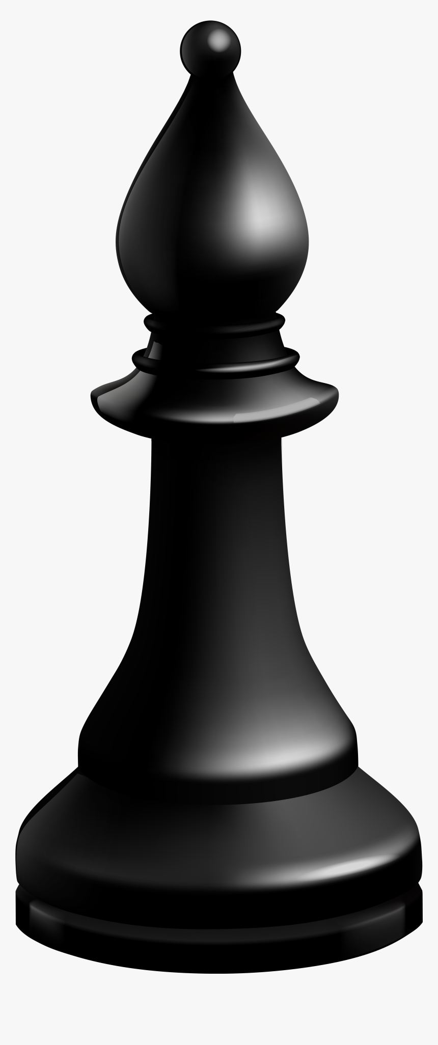 Bishop Black Chess Piece Png Clip Art - Chess, Transparent Png, Free Download