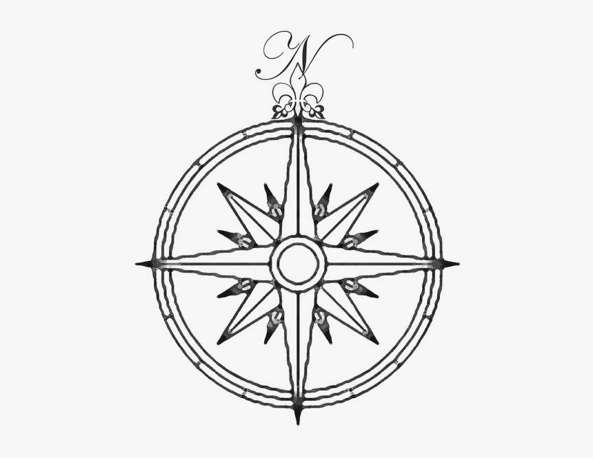 Compass Rose Wind Rose Drawing Traditional Compass Tattoo Design