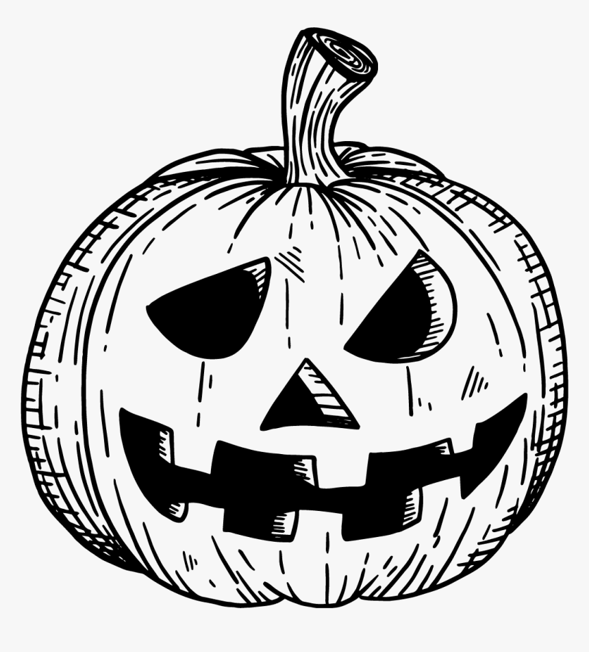 Cute Halloween Jack O Lantern Coloring - Large Halloween ...